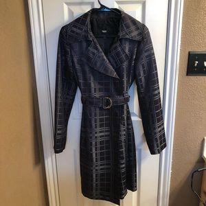 Black and charcoal lined rain jacket size small